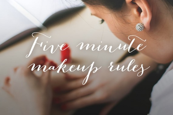 five-minute-makeup-rules
