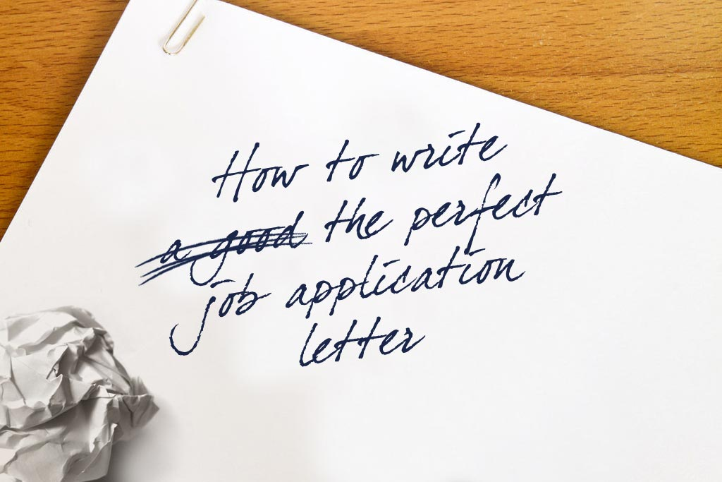 how to write the perfect job application letter
