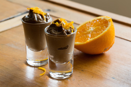 Avocado orange chocolate mousse