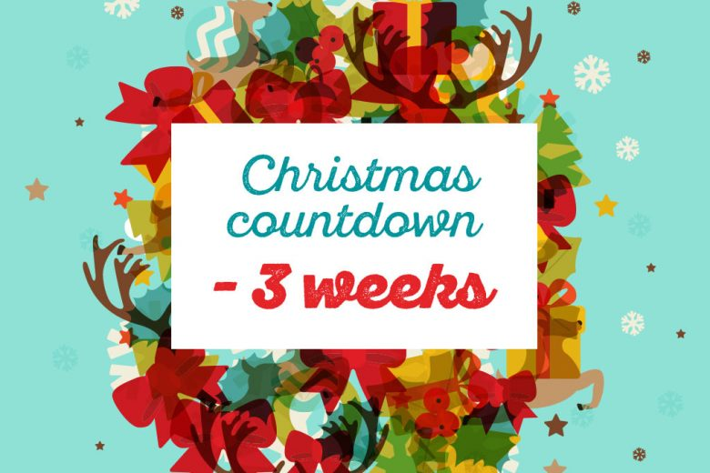 countdown to christmas three weeks to go