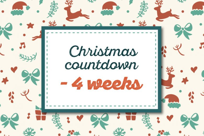 countdown to christmas four weeks to go