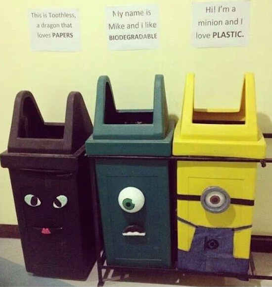 Fun recycling ideas